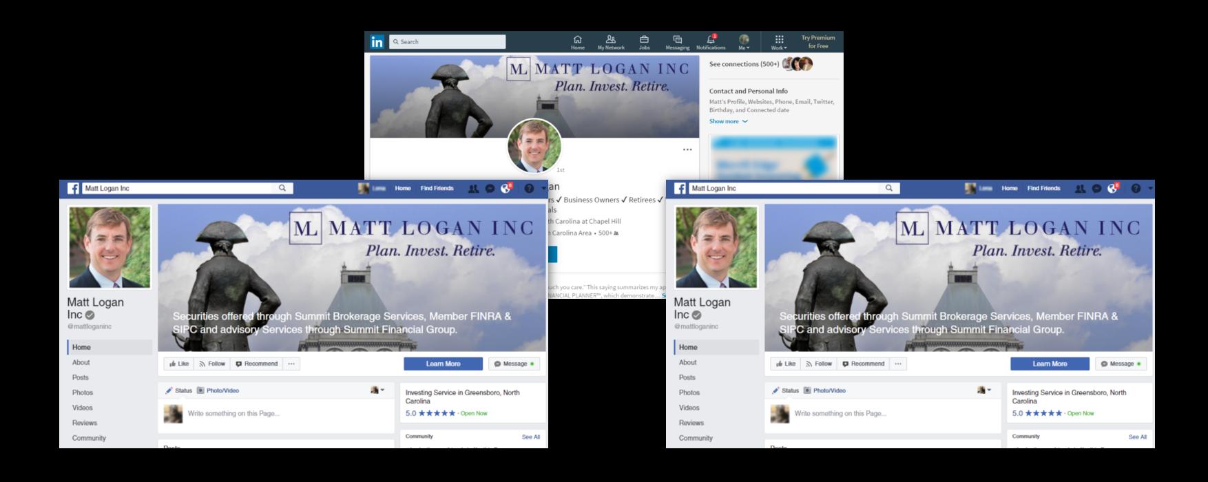 financial advisor social media examples