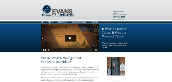 before images of financial advisor websites