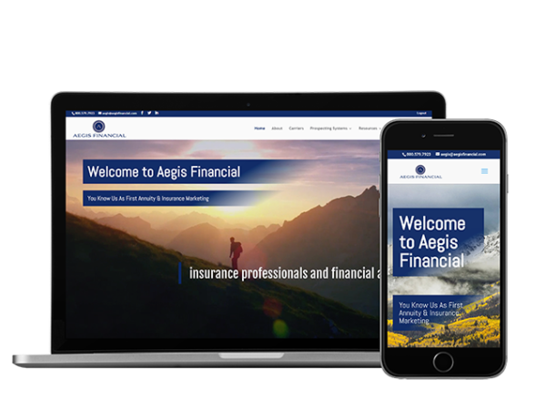 financial advisor website example