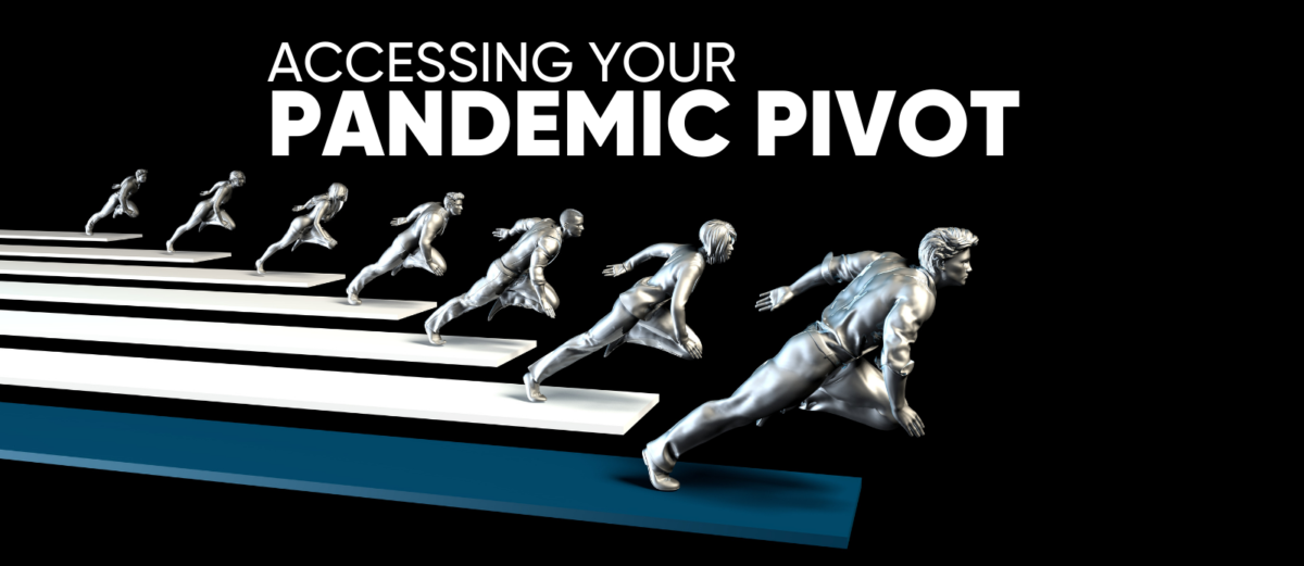 Several silver statues in a running pose
