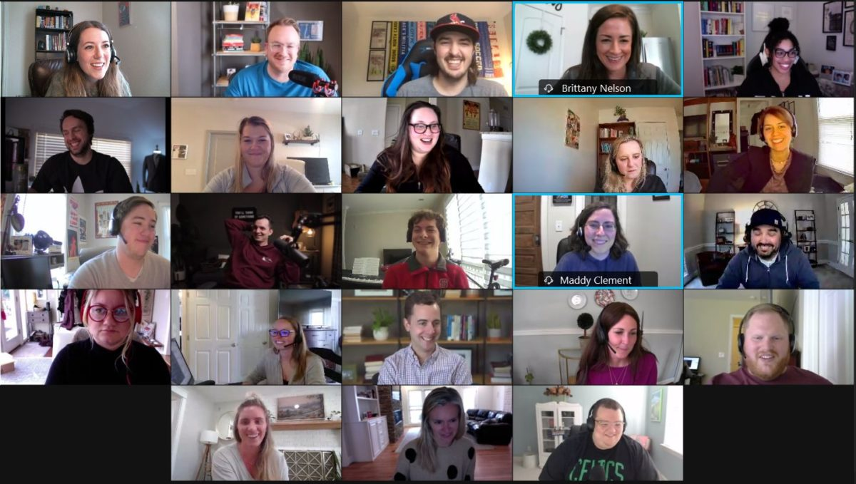 Some of our team enjoying a recent Virtual Happy Hour