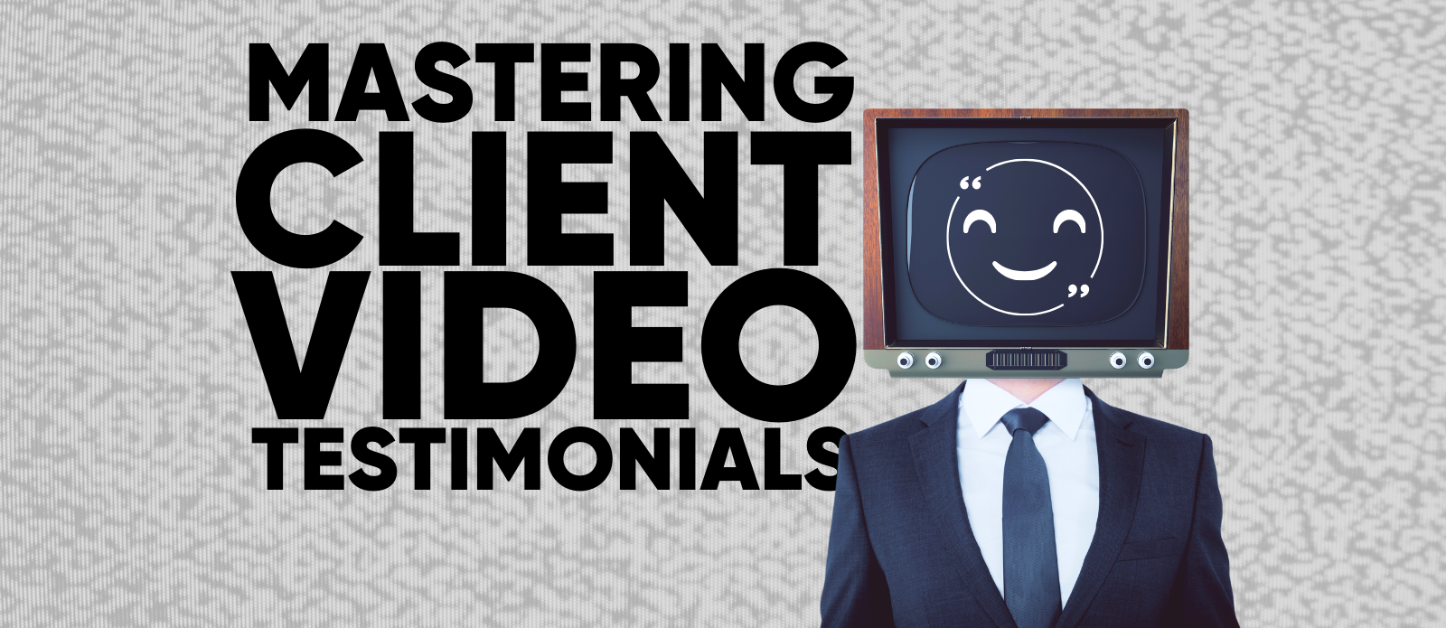 Man with superimposed tv for a head with a smiling graphic